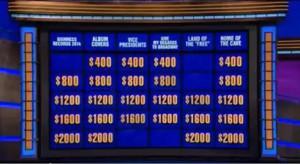 Jeopardy board