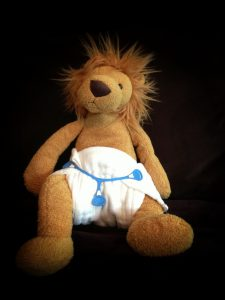 lion in diaper