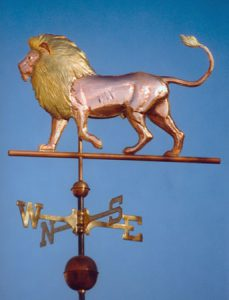 lion weather vane
