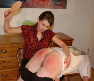 man being spanked