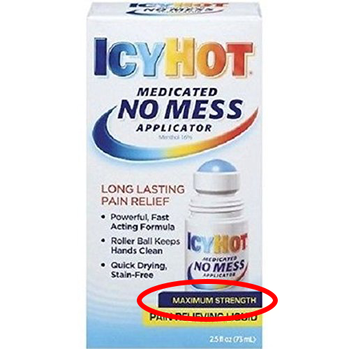 Maximum strength Icy Hot